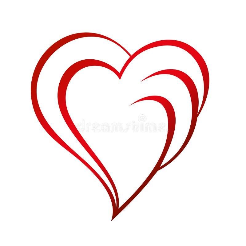 Valentine Red Heart Leaf Spring royaltyfri fotografi