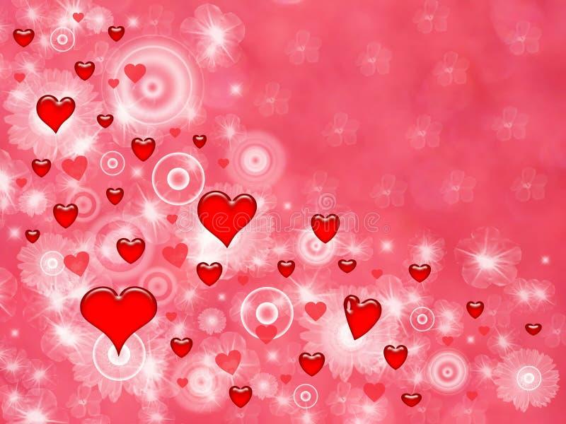 Valentine red love hearts vector illustration