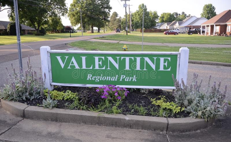 Valentine Regional Park, Atoka, Tennessee imagem de stock