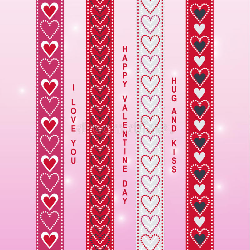 Free Valentine Ribbon Scrapbook 1 Royalty Free Stock Photography - 64573347