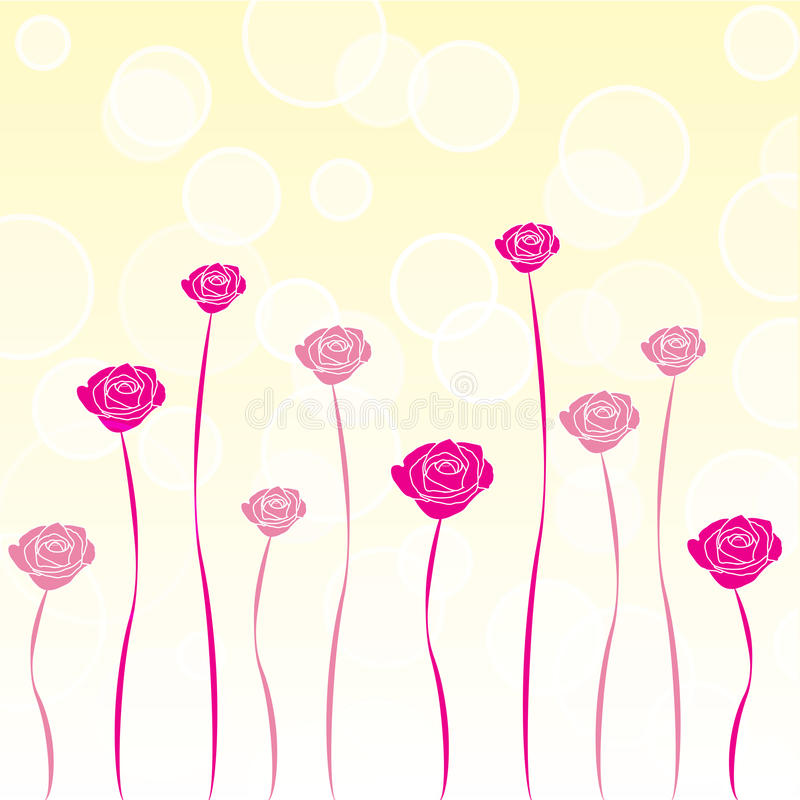 Valentine Rose Background stock illustration