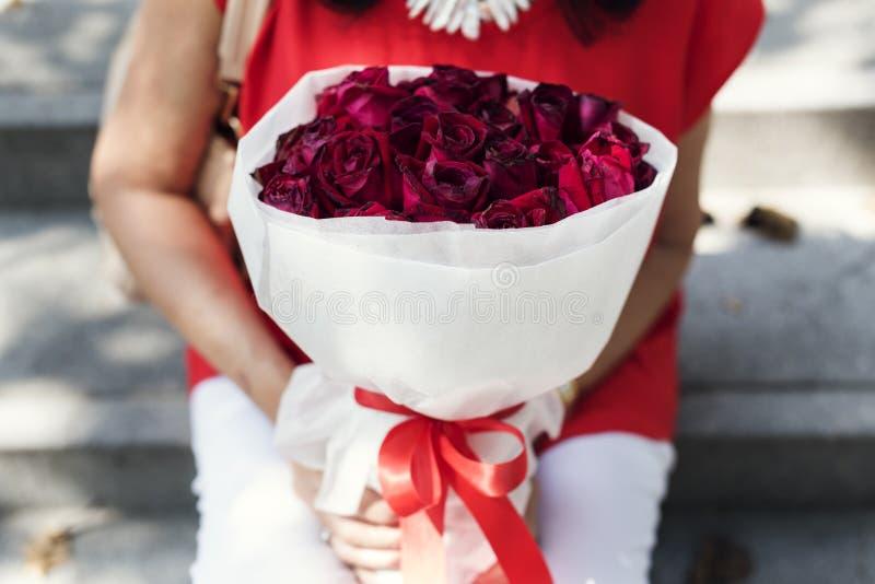 Valentine Rose Bouquet Romantic Happy fotografia de stock royalty free