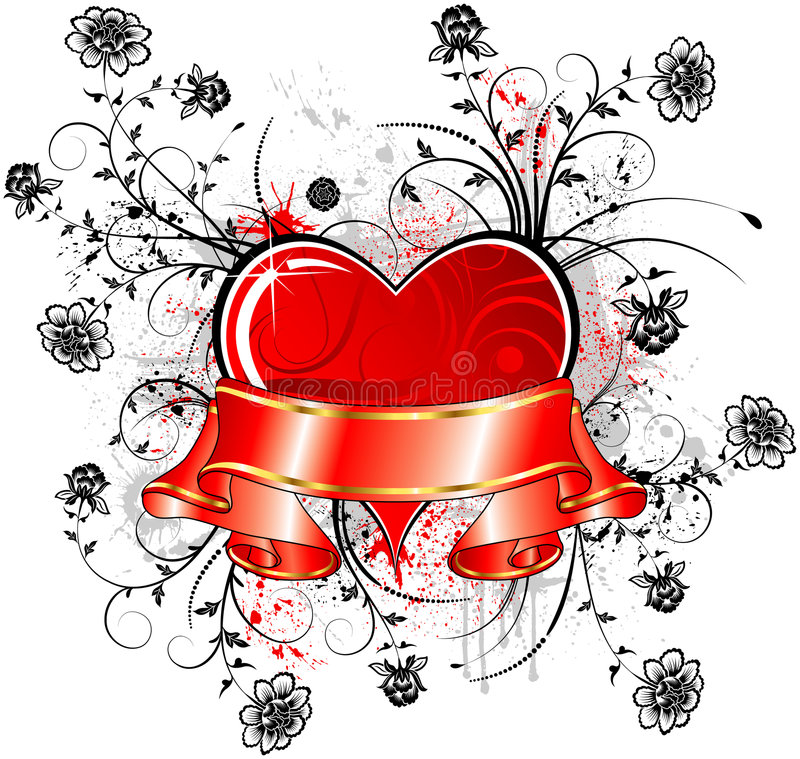 Download Valentine's abstract stock vector. Image of ribbon, decor - 1830067