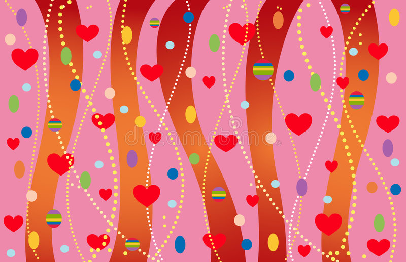 Download The Valentine's Background. Stock Vector - Illustration of paint, classic: 7626962