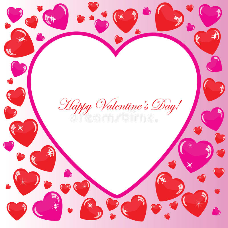 Download Valentine's Background With Big White Heart Stock Illustration - Image: 34760386