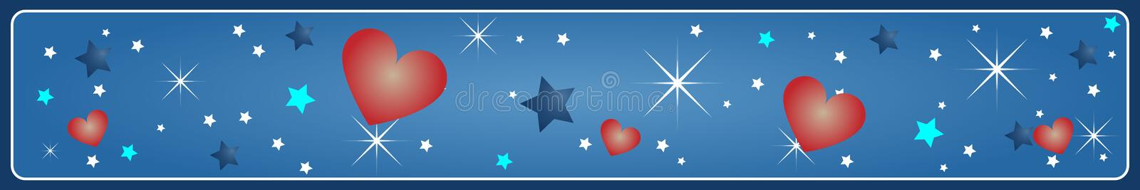 Valentine's banner royalty free stock photography