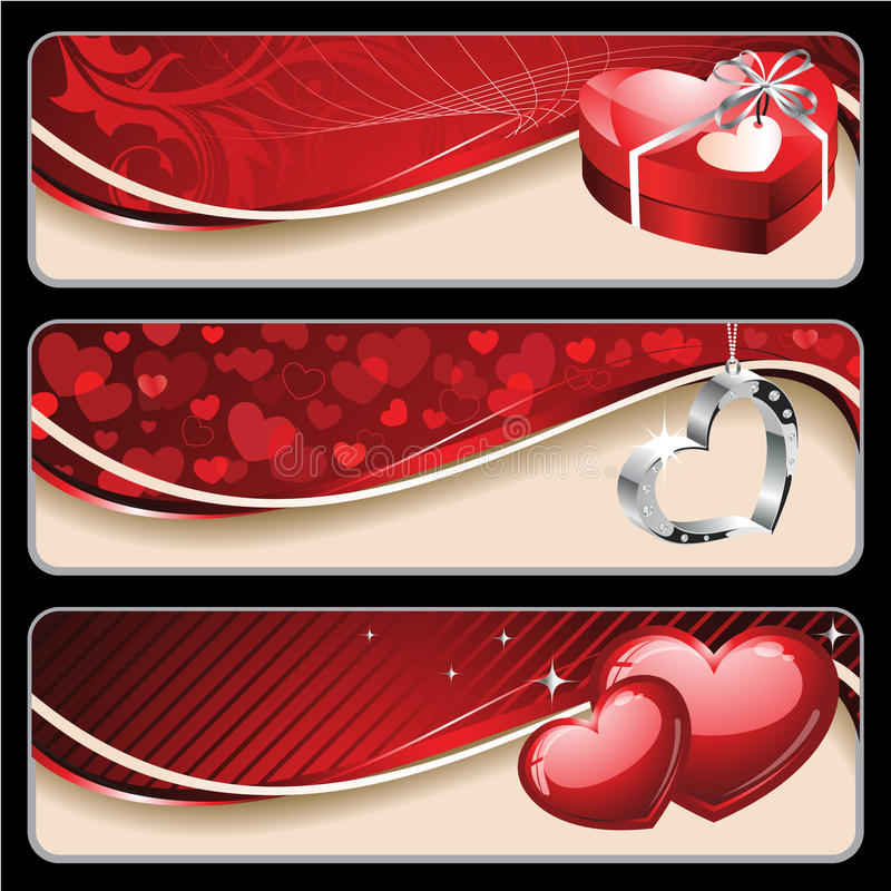 Valentine's Banners royalty free illustration