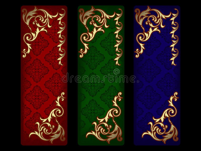 Valentine's banners set royalty free stock image