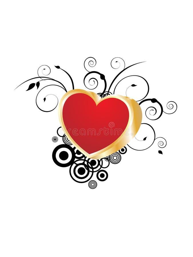 Valentine`s card royalty free illustration