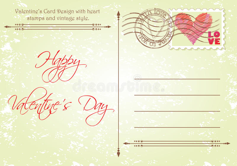 Valentine's Card vector illustration
