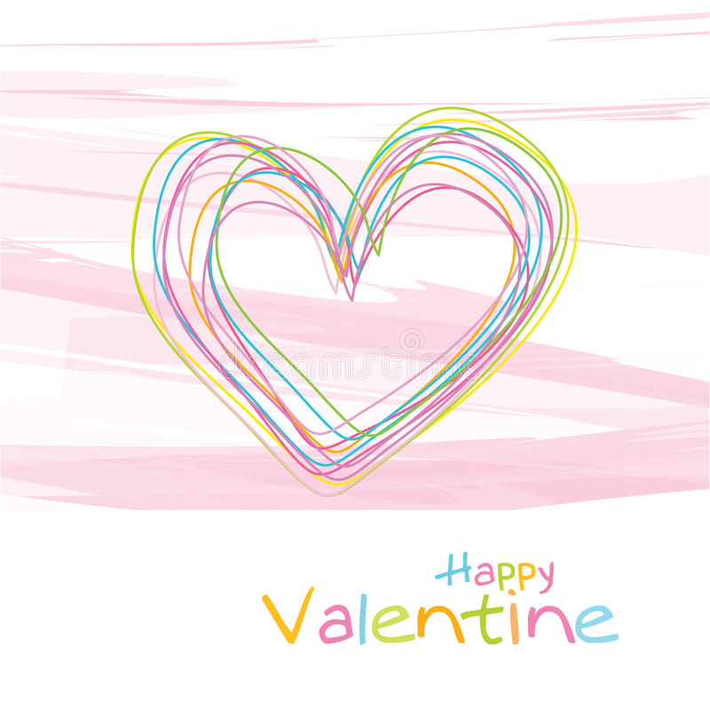 Download Valentine's card stock vector. Illustration of beautiful - 18270928
