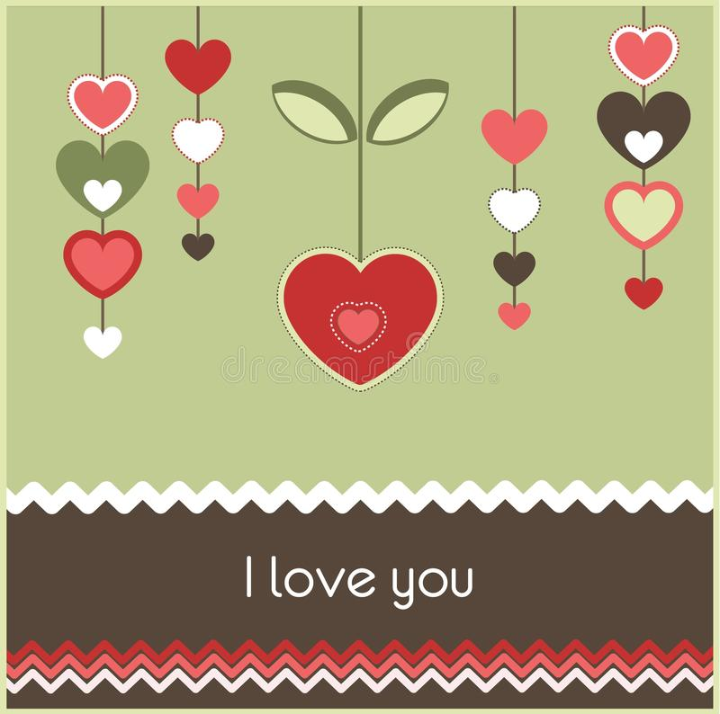 Download Valentine's card stock vector. Image of beauty, design - 23043739