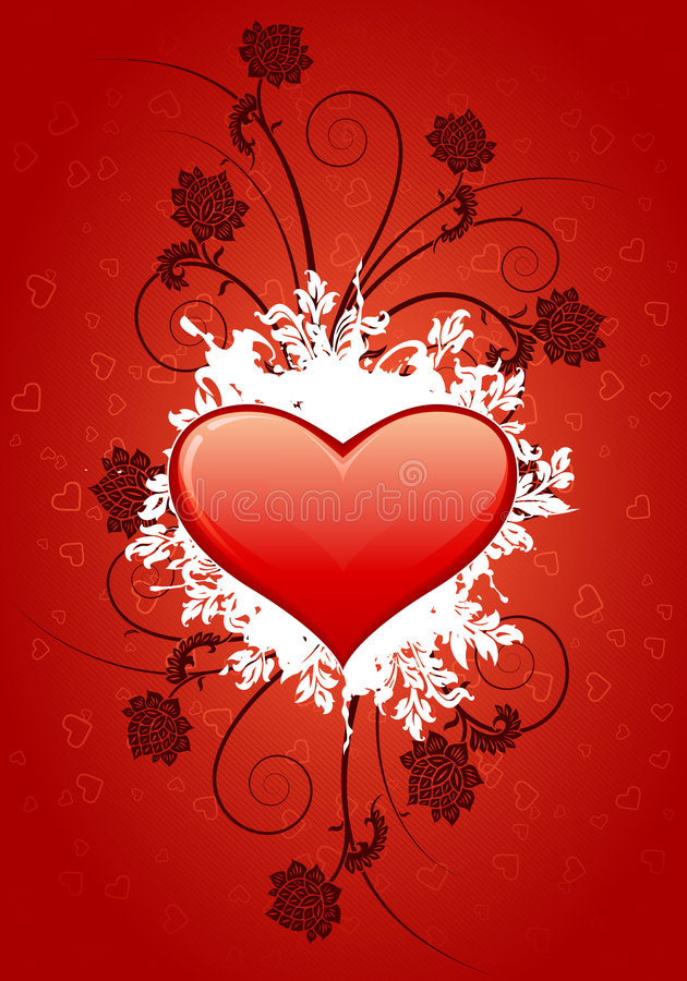 Download Valentine's card stock vector. Image of ideas, love, floral - 3866112