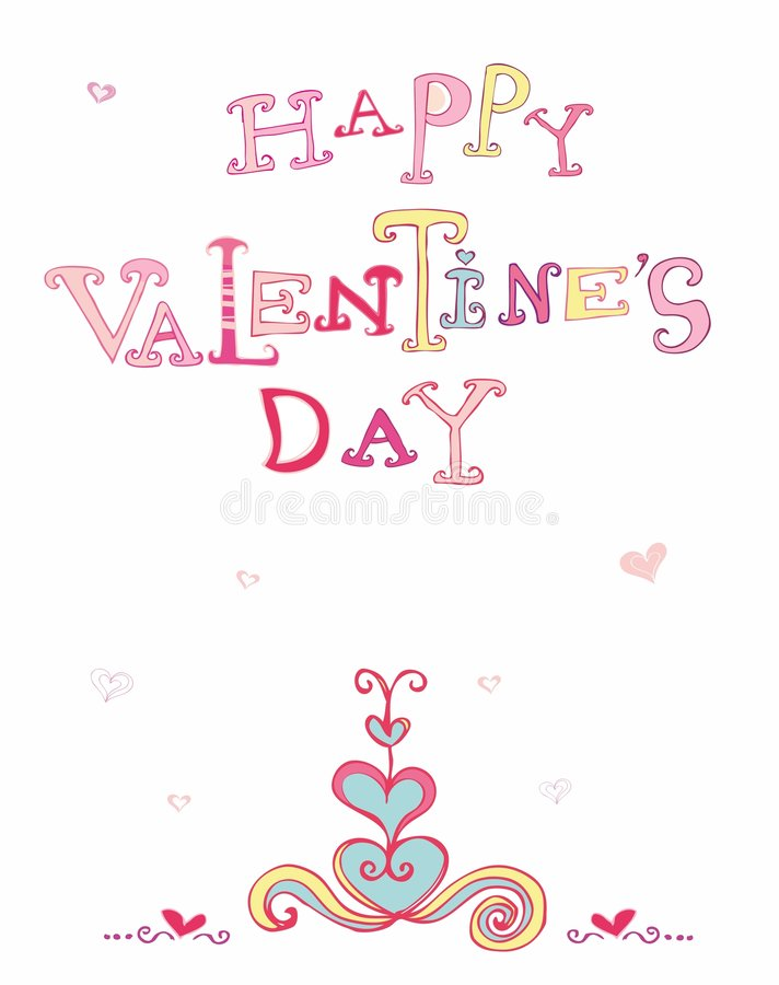 Valentine's card stock illustration