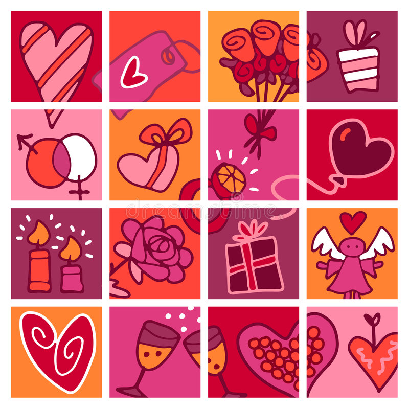 Valentine's card royalty free illustration