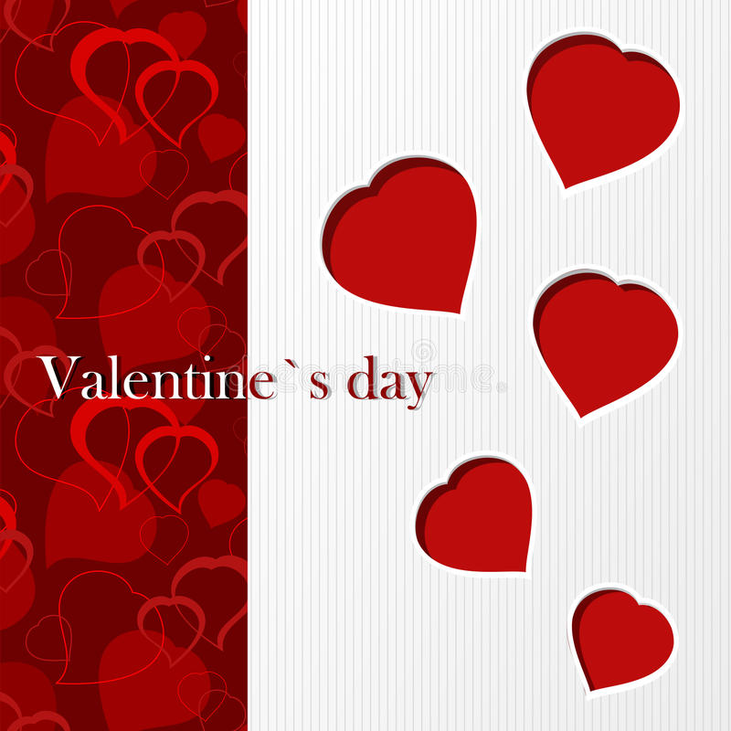 Valentine`s Card - I Love You Stock Images
