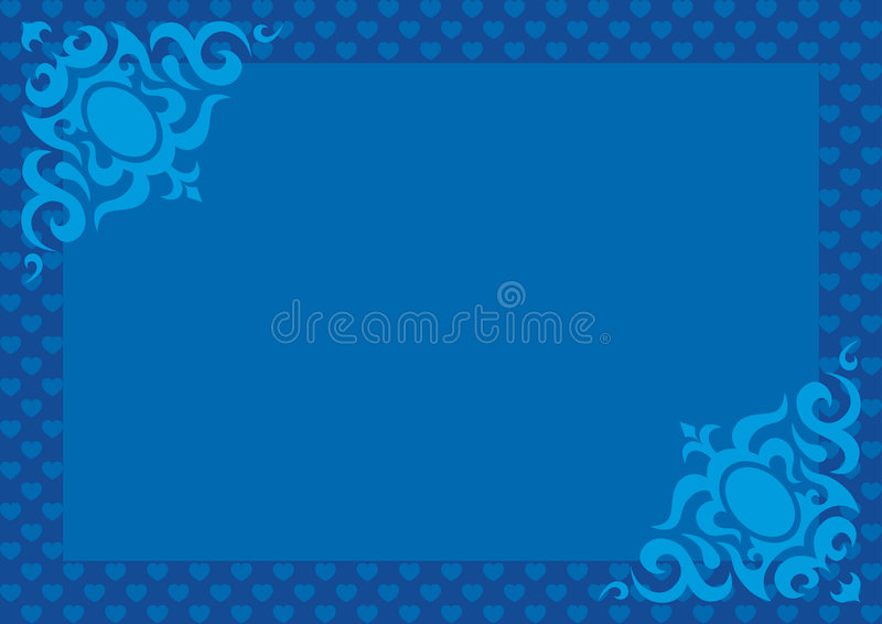Valentine's Day 06 Blue royalty free stock images