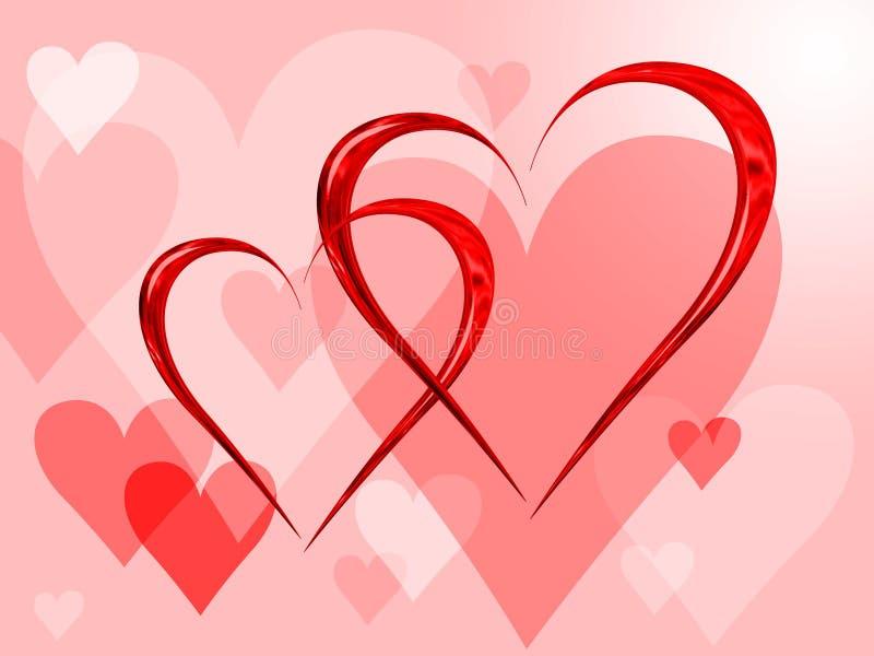 Valentine's day. Postcard at Valentine's day vector illustration