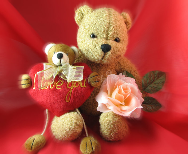 Download Valentine's Day stock photo. Image of rose, bear, pink - 447878