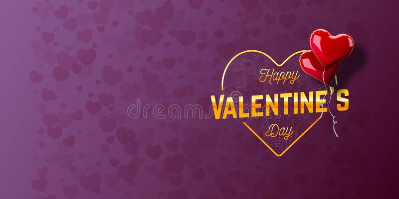 Valentine`s day abstract background stock illustration