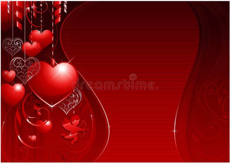 Valentine's day background stock illustration