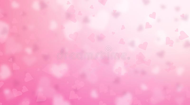 Valentine`s Day background. Abstract pink hearts backdrop. Valentine`s Day background. Abstract pink hearts holiday backdrop royalty free illustration