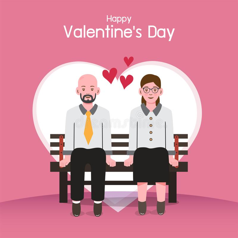 Valentine `s day background, couples in love stock image