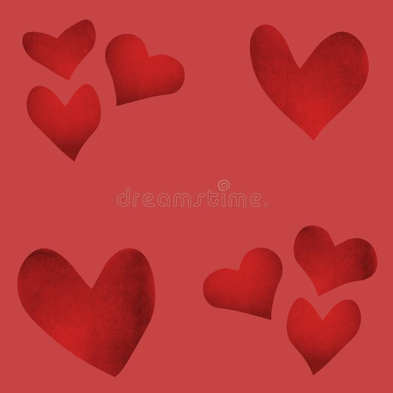 Valentine`s day background with cut paper heart. Template on love and the relations. Valentine`s day background with cut paper heart royalty free illustration