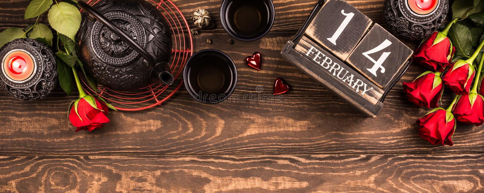 Download Valentine`s Day Background. Stock Image - Image of heart, decoration: 104881725