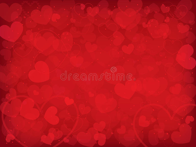 Valentine's day background with hearts vector illustration