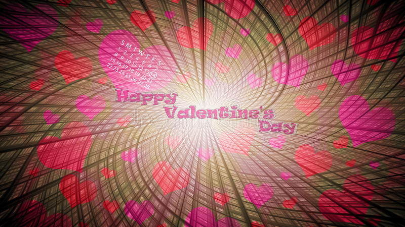 Valentine's day. Background with hearts stock illustration