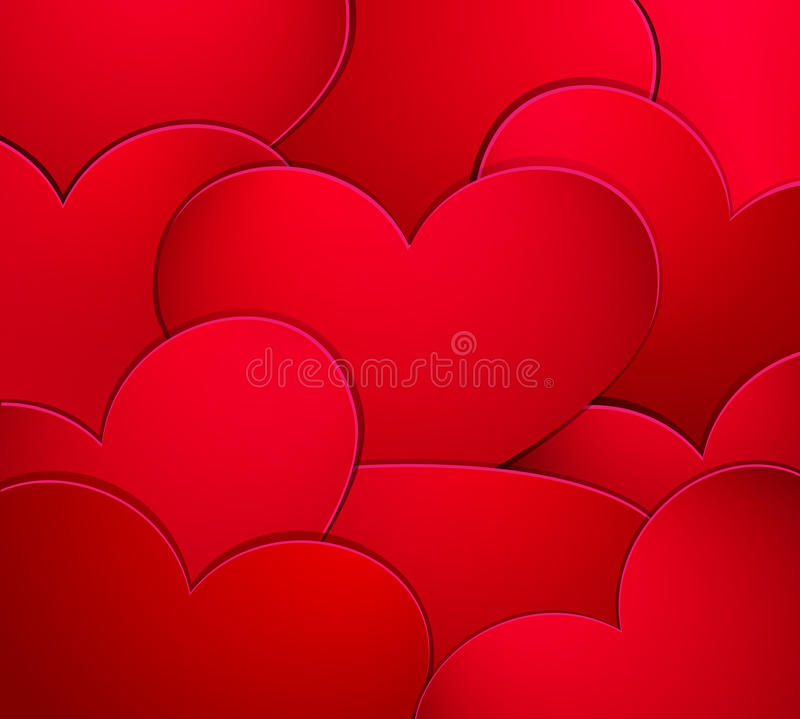 Valentine's day background with hearts stock illustration
