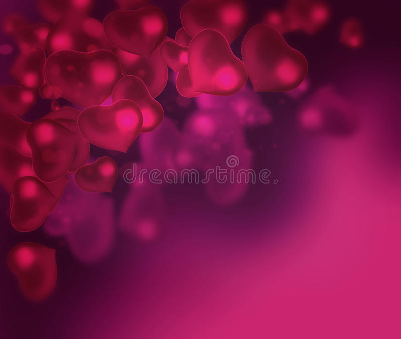 Valentine's day background with hearts abstract background vector illustration
