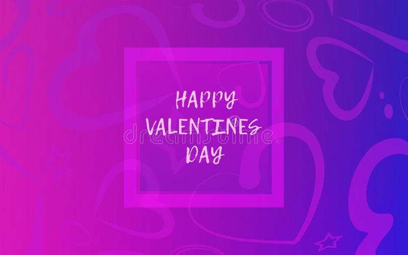 Valentine`s Day background with hearts stock illustration