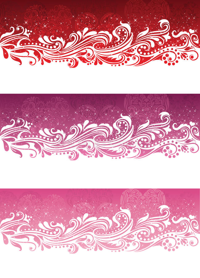 Valentine's day banners. stock illustration