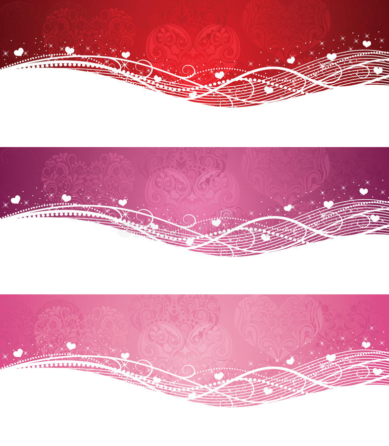 Valentine's day banners. vector illustration
