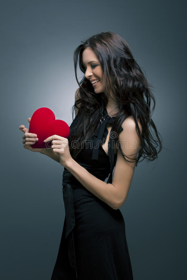 Download Valentine's Day. Beautiful Smiling Woman Stock Image - Image: 23302531
