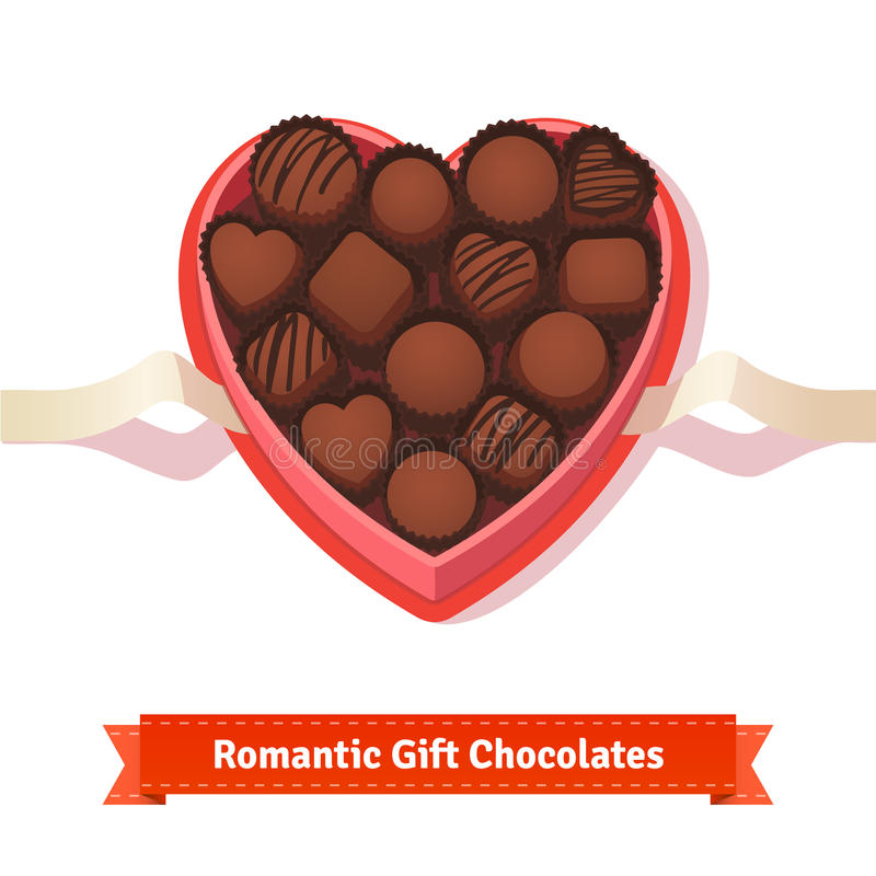 Free Valentine S Day, Birthday Dark Chocolates In Box Royalty Free Stock Photo - 65353995