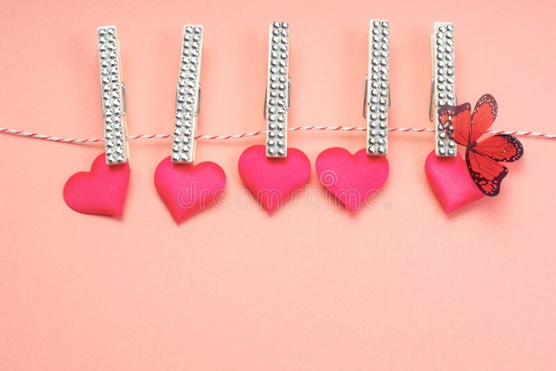 Valentines Candy Hearts Sign with Ribbon Hanger