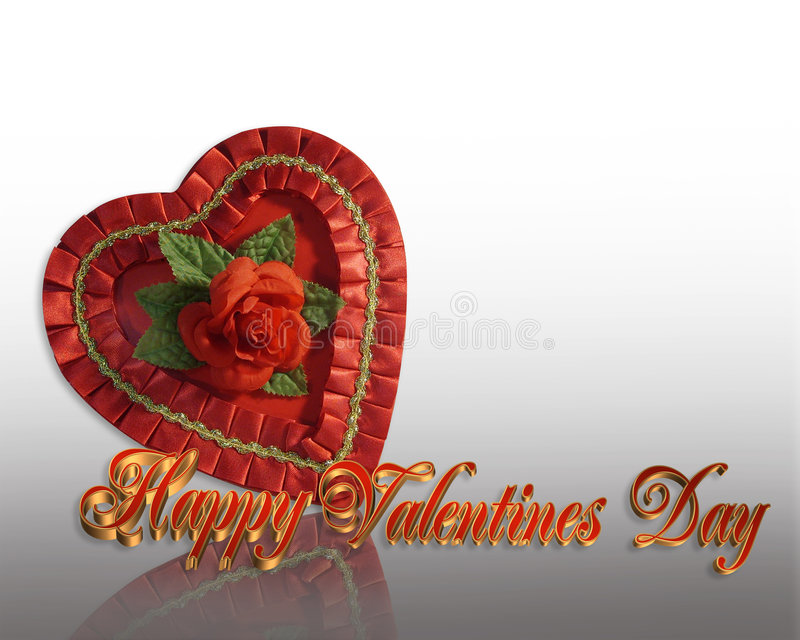 Valentine's Day Border candy heart royalty free stock photos