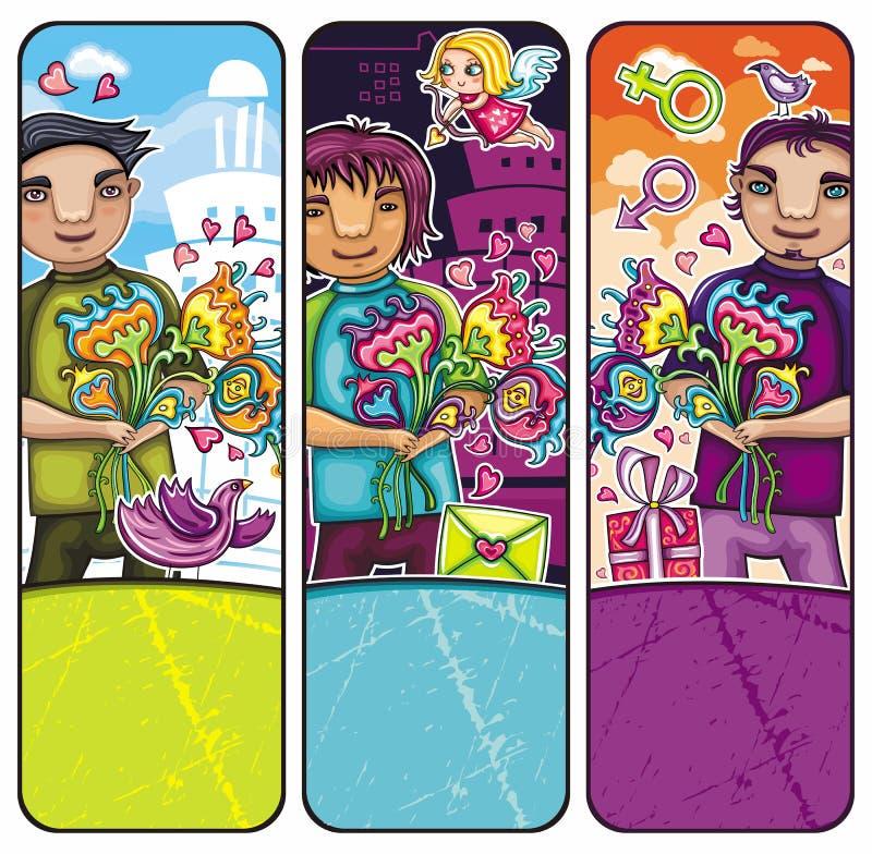 Download Valentine's day boys stock vector. Illustration of flower - 18054244
