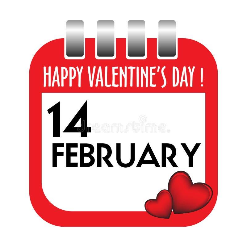 Valentine's Day calendar sheet stock images