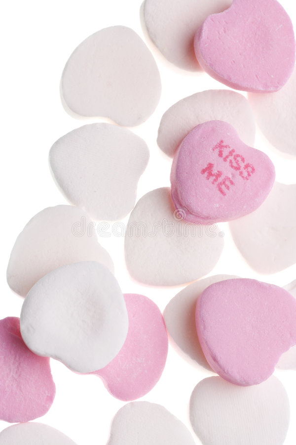 Valentine's Day Candy Hearts stock photos