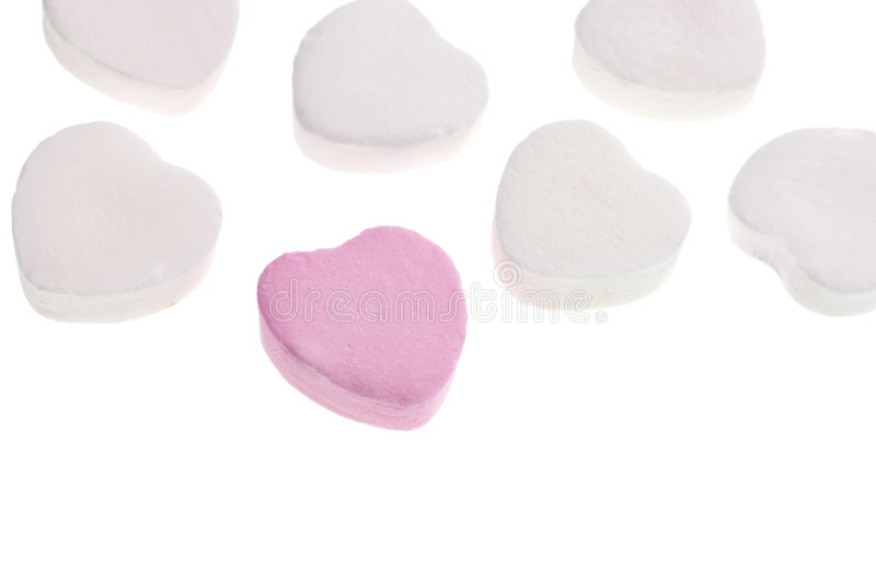 Valentine's Day Candy Hearts stock photo