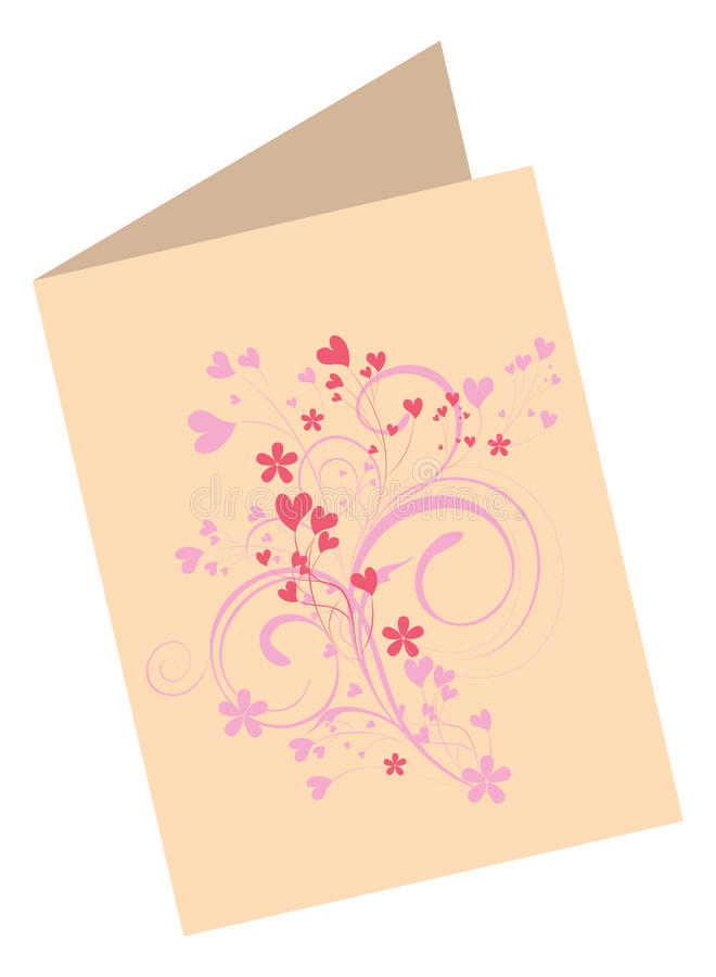 Download Valentine's Day card stock vector. Illustration of romantic - 18274096