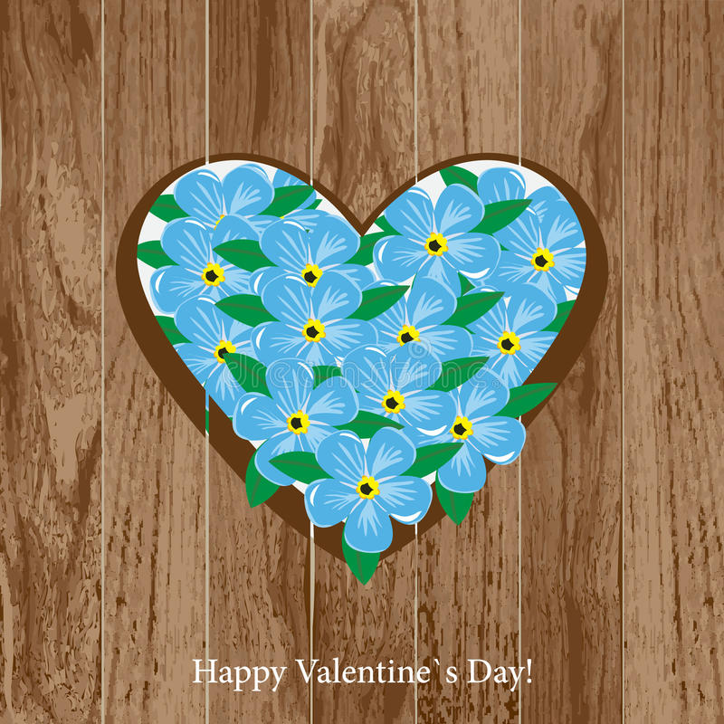 Download Valentine`s Day card stock photo. Image of nature, heart - 22805156