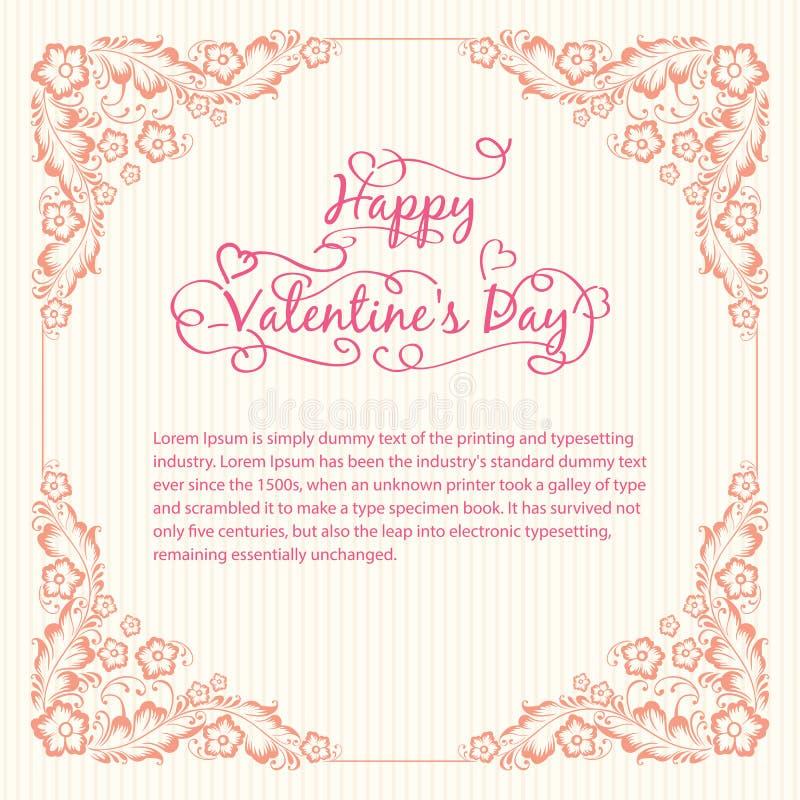 Download Valentine's day card stock vector. Illustration of frame - 28636441