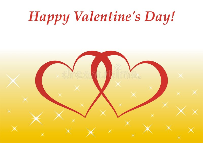 Download Valentine's Day card stock vector. Image of twinkle, hearts - 7937785