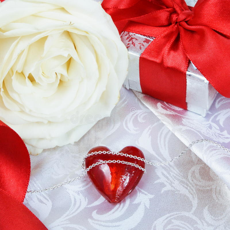 Download Valentine's Day Card With Chained Heart Stock Photo - Image: 22994846