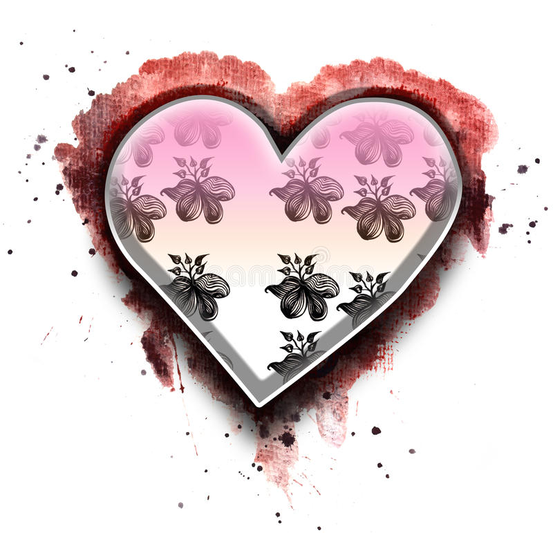 Download Valentine's Day Card Design Stock Illustration - Image: 12036199